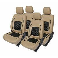 Hi Art Beige/Black Complete Set Leatherite Seat covers Honda City (2008-2013)