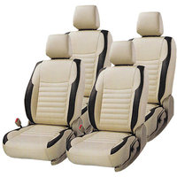 Hi Art Beige/Black Complete Set Leatherite Seat covers Maruti Alto K10