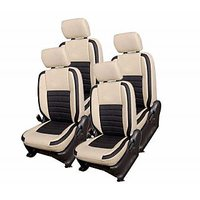 Hi Art Beige/Black Complete Set Leatherite Seat covers Maruti WagonR New