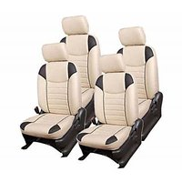 Hi Art Beige/Black Complete Set Leatherite Seat covers MarutiSwift Old