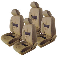 Hi Art Beige/Black Complete Set Leatherite Seat covers Skoda Rapid