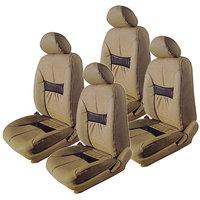 Hi Art Beige/Black Complete Set Leatherite Seat covers Honda Honda City New - 2014 Onwards