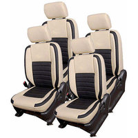 Hi Art Beige/Black Complete Set Leatherite Seat covers Volkswagen CrossPolo