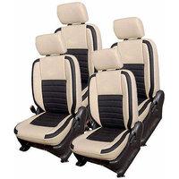 Hi Art Beige/Black Complete Set Leatherite Seat covers Hyundai i10