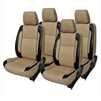 Hi Art Beige/Black Complete Set Leatherite Seat covers Toyota Etios Liva Xclusive