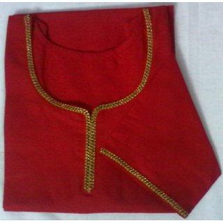 Red cotton kurta top  kurti  Kurtis designer short