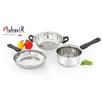 Mahavir Induction  LPG Compatible Cookware Set (3Pc)