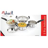 Mahavir Induction & LPG Compatible Cookware Set (5 Pcs)
