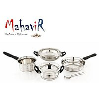 Mahavir Induction  LPG Compatible Cookware Set (5 Pcs)