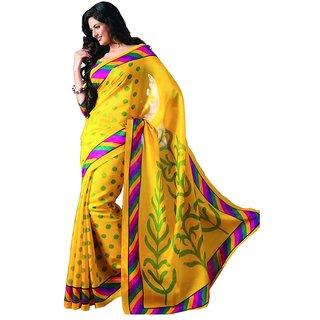 Dream Beauty Fashion Yellow Bhagalpuri Saree