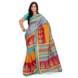 Shanums Designer Printed Bhagalpuri Silk Saree - SDBS1