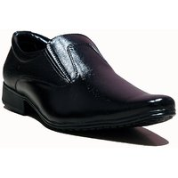 At Classic Mens Black Slip On Formal Shoes
