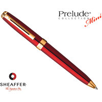 Sheaffer 9804 Ball Pen - Prelude Mini - Ruby Red - Small Pen With Style