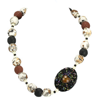 Trendy Brown And Black Stones Neckpiece By AARA