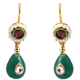 Emerald Drop Earings By AARA