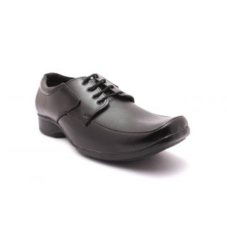 Tycoon Mens Formal Shoes - Black - Synthetic Leather - Lace Up Shoes
