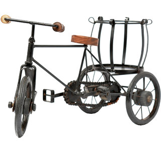 Collectibles Black Color Iron Bicycle With Bottle Holder