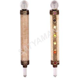 Satyamani Seven Chakra Peach Moonstone Master Stick