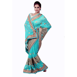 Ellegent Exports Heavy Work Georgette Saree