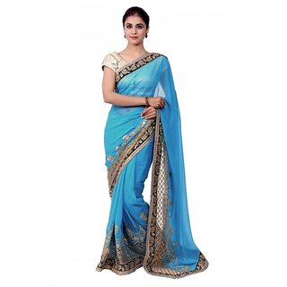 Ellegent Exports Georgette Embriodery Saree