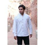 Shoppertree White Mens Stripe Shirt