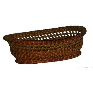 Bamboo craft natural can Ovel Basket