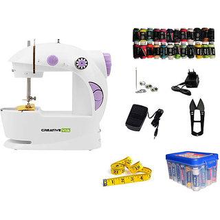 Creativevia 28In1 Pack Portable 4in1 Mini Electric Sewing Machine JH-45
