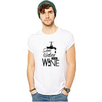 SAVE WATER DRINK WINE GRAPHIC PRINTED T-SHIRT