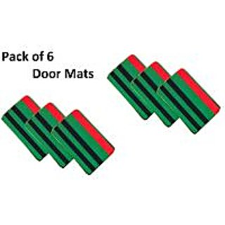 iLiv Beautiful Green Door Mat Set of 6