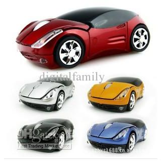 Price Discount Top quality USB 2.4GHZ wireless mouse  car mouse fashion mouse freeshipping