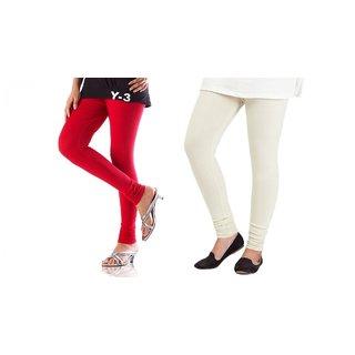 Angel-Magjons Cotton Leggings Set Of 2 Color Combo MJ1555
