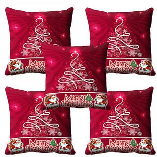 meSleep Pink Christmas Cushion Cover 16x16
