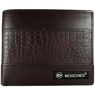 Moochies Genuine Leather, Gents Wallet Brown