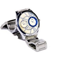 American Religion Dual Time Watch With 3D Glass