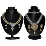 Combo Of 2 Trendy Golden And Silver Pearl Set D And Y 1014