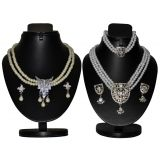 Combo Of 2 Trendy Silver Pearl Set D And Y 1015