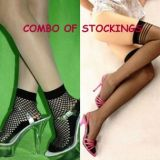 Fashionable Net Stockingscombo Pack Of Ankle Length And Full Stockings