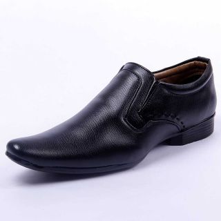 Foot 'n' Style Smart Black Slip-on Formal Shoes (fs222)