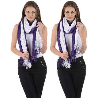 iLiv Winter Purple Stole -set of 2 - 2pplnet20