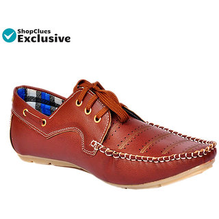 Shoeniverse Men's Brown Casual Shoes
