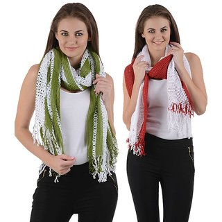 iLiv winter stoles- Green & Red-grnrednet28