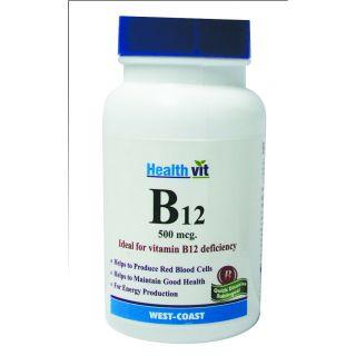 HealthVit B12 500mcg. 60 Tablets