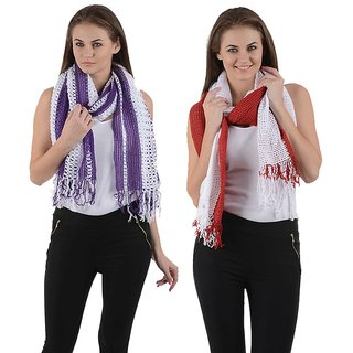 iLiv winter stoles- Purple & Red-pplrednet21