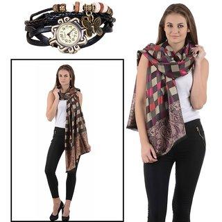 iLiv ONLY You Fashion Combo -2-BDW-bCHKSHAWL