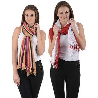 Combo- Designer Wollen & Red Stoles-woolrednet22