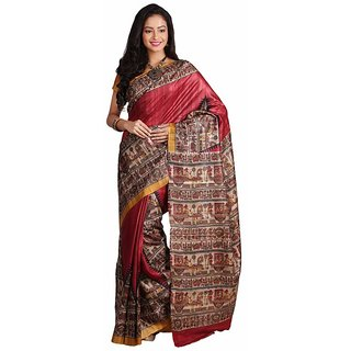 Silk Only Temple Madhubani Silk Saree