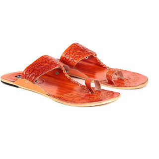 TEN Women s Orange Ethnic Slippers (TENSLP-TLJ020ORNG)