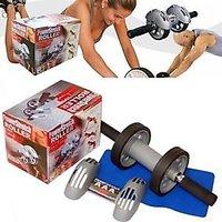 Powerstretch AB Wheel Roller Exercise Fitness Slim Body Roller