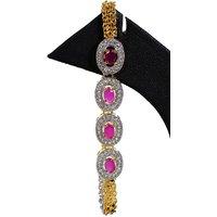 Ambitione AD Golden Floral Dazzle Bracelet