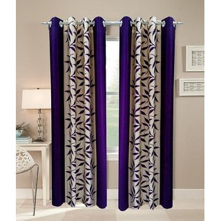 Akash Ganga Kolaweri Design Window Curtain 6 feet(Set of 2)
